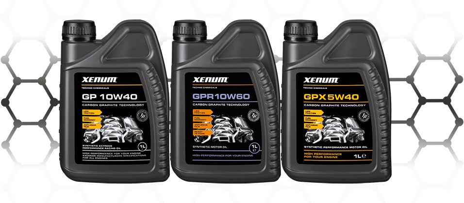 Xenum Graphite Oils - High performance oils - GP 10W40 - GPR 10W60 - GPX 5W40